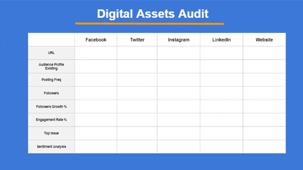 Digital Assets Audit for B2B Company